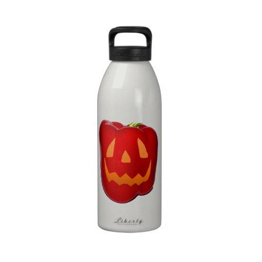Orange Glow Red Bell Peppolantern Drinking Bottles
