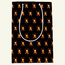 Orange Glowing Halloween Cat Medium Gift Bag