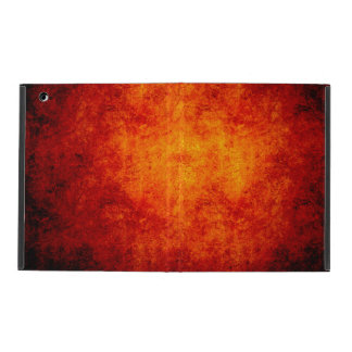 Orange glowing hot rock texture case for iPad