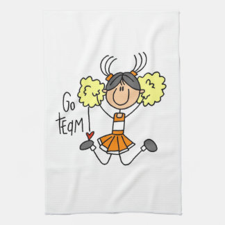 Orange Go Team Cheerleader Kitchen Towel