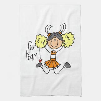Orange Go Team Cheerleader Towel