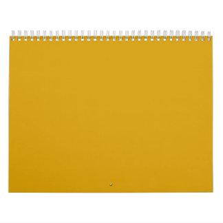 Orange Gold Backgrounds on a Calendar