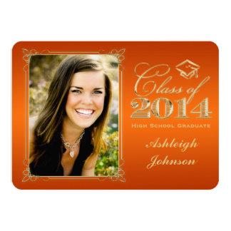 Orange, Gold Class of 2014 Photo Grad Invite 2