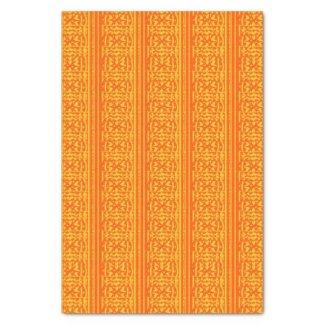 Orange & Gold Floral Print 10