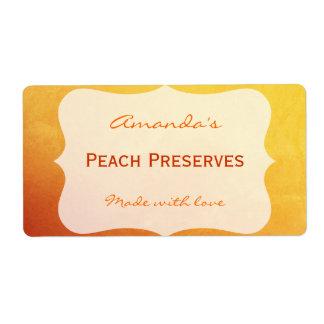 Orange Gold personalizó la etiqueta de enlatado Etiquetas De Envío