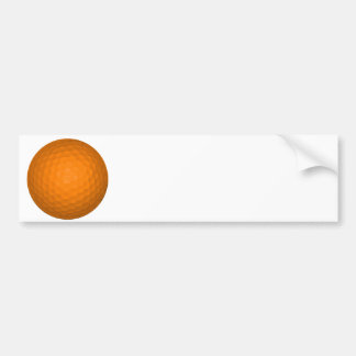 Orange Golf Ball Bumper Sticker