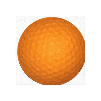 Orange Golf Ball Stretched Canvas Prints