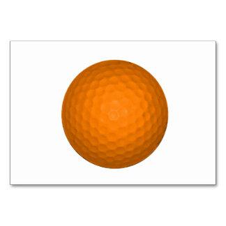 Orange Golf Ball Card