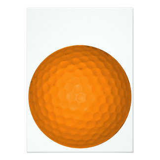Orange Golf Ball Card