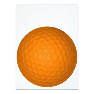 Orange Golf Ball Invitation