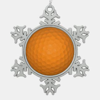 Orange Golf Ball Ornament
