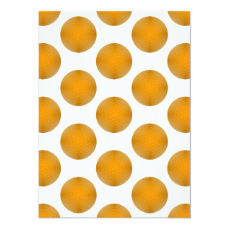 Orange Golf Ball Pattern Card