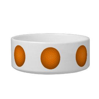 Orange Golf Ball Pet Water Bowls