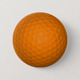 Orange Golf Ball Pinback Button