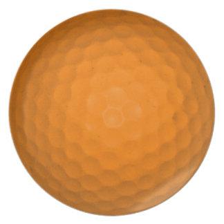 Orange Golf Ball Dinner Plate
