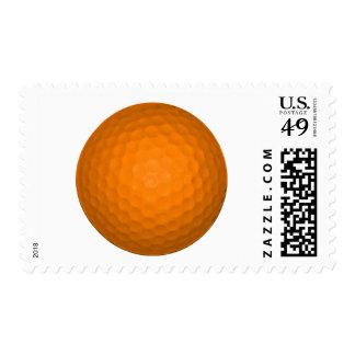 Orange Golf Ball Postage