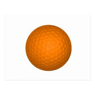 Orange Golf Ball Postcard