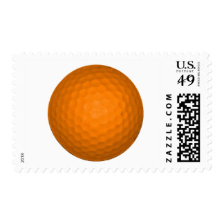 Orange Golf Ball Stamp