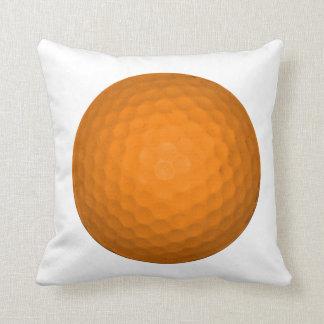 Orange Golf Ball Throw Pillow