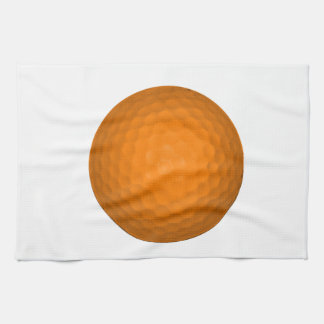 Orange Golf Ball Towel