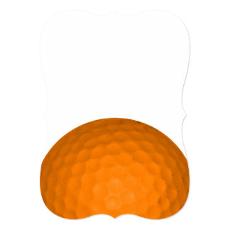 Orange Golfball Personalized Announcement