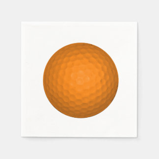 Orange Golfball Standard Cocktail Napkin