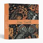Orange gothic butterfly student folder