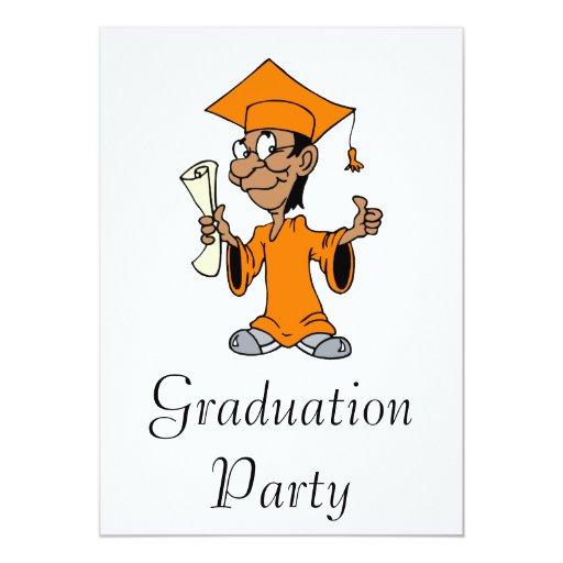 Orange Grad 5x7 Paper Invitation Card