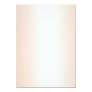Orange Gradient Blank Wedding Fan Program Paper Card