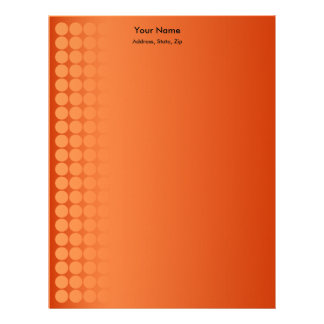 Orange gradient spots letterhead