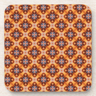 Orange Gradient Vintage Mosaic Pattern Coaster