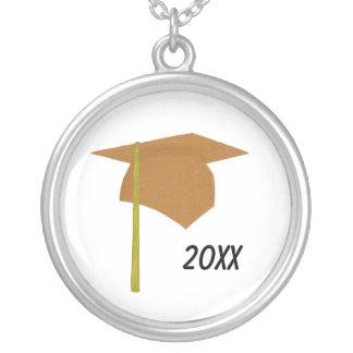 Orange Graduation Cap Yellow Tassel, Necklace