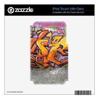 Orange graffiti tag iPod touch 4G skin