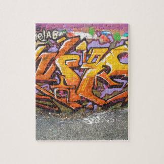Orange graffiti tag jigsaw puzzle