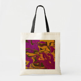 orange & grape abstract art tote bag