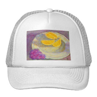 Orange, Grapes and Plate, Hat