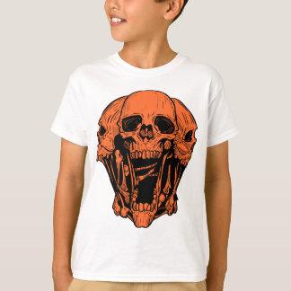 Orange Graphic  Skull Shirt