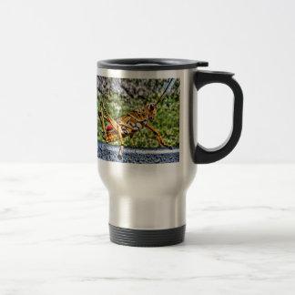 Orange Grasshopper Travel Mug