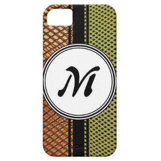 Orange Grating Green Mesh Crazy pattern Monogram iPhone SE/5/5s Case