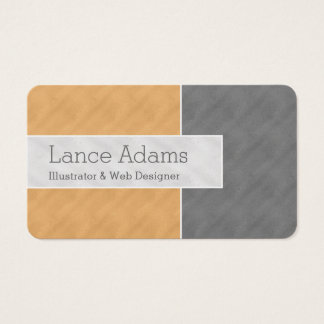 Orange/Gray/Silver ColorBlock Business Card