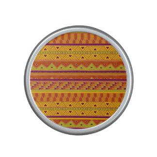 Orange Green Abstract Aztec Tribal Print Pattern Speaker