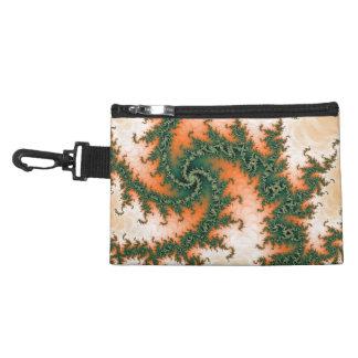 Orange Green Abstract Swirl Accessory Bag