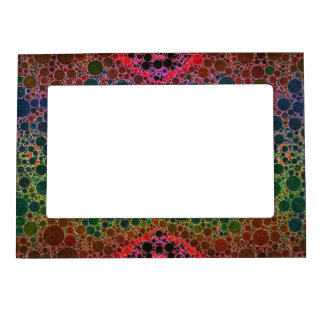 Orange Green Blue Abstract Magnetic Picture Frame