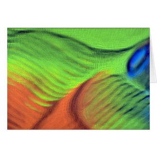 Orange-green blue swells cards