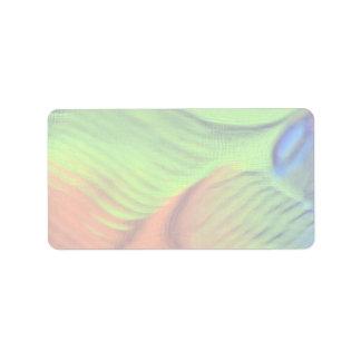 Orange-green blue swells custom address labels