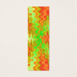 orange green bookmarks mini business card