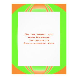 orange green circle flyer