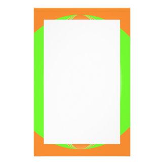 orange green circle stationery