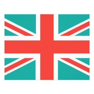 Orange Green Classic Union Jack British(UK) Flag Letterhead