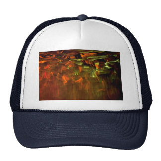 Orange-green eruption trucker hat